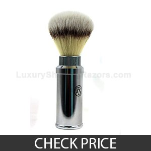 Best Travel Shaving Brush - FS Synthetic Hair Brush Travel Chrome Aluminum Case 20 mm knot by Frank Shaving