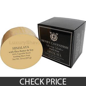 Henry Cavendish Himalaya with Coconut Oil and Shea Butter Shave Soap