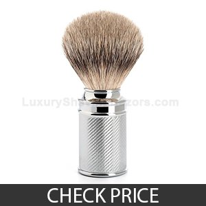 Muhle Silvertip Badger Hair, Chrome Metal Handle Shaving Brush, 3 Month Warranty