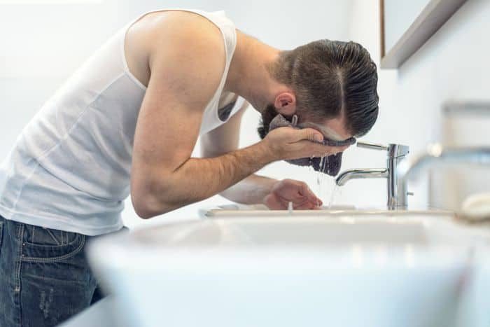 Man using best face wash cleanser
