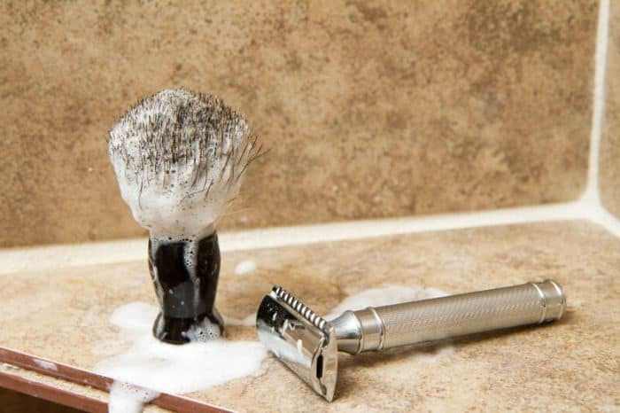 Safety razor and brush