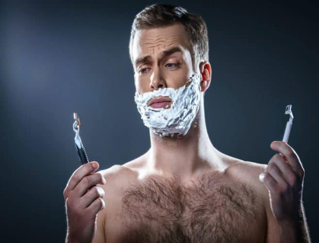 Best Disposable Razor - Man shaving cartridge razor