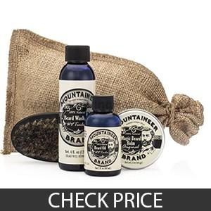 Beard Care Kit by Mountaineer Brand - Best Organic Beard Grooming Kit
