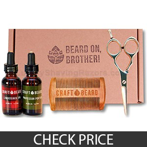 Beard Grooming Kit With Scissors by Craft Beard - Great Value