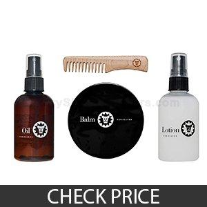 Beardsley in the Box Beard Care Set - Best Beard Grooming Kit Gift Set