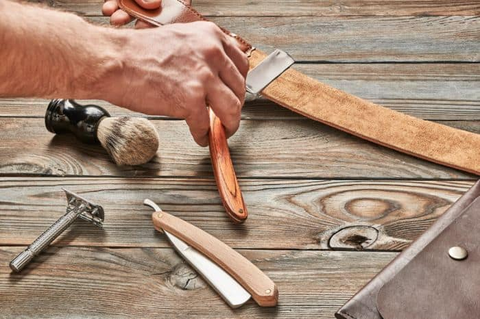 straight razor sharpening