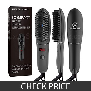 Aberlite Beard Straightener For Men - Best Lower-Heat Beard Straightening Brush