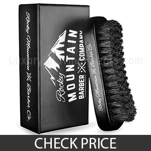 Rocky Mountain Barber Company Boar Hair Beard Brush - Great All-round Beard Brush