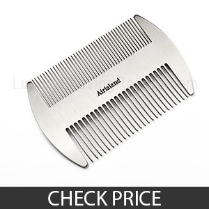 Airisland Dual Sided Stainless Steel Beard and Mustache Comb