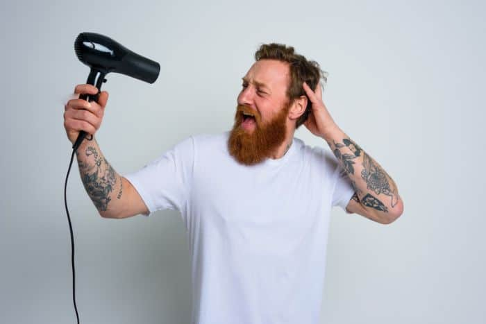 How to Blow Dry and Straighten your Beard Fast & Easy